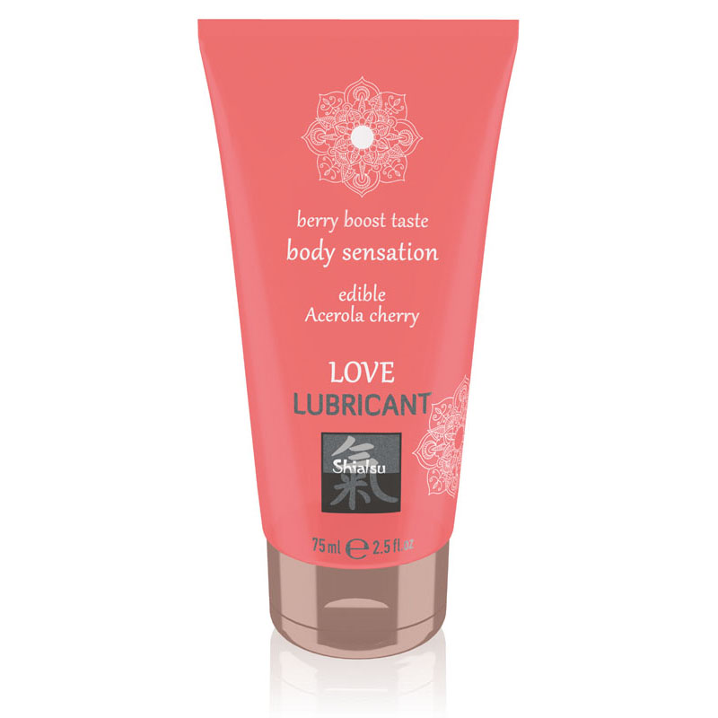 Shiatsu Edible Love Lubricant 75ml - Acerola Cherry